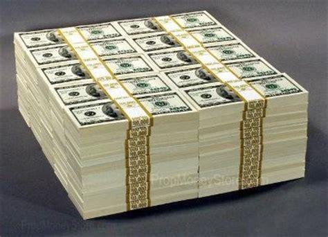 1 million dollar million dollar prop money stacks and piles