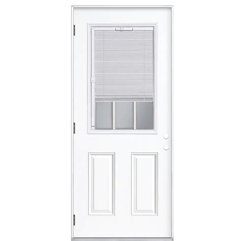 shop reliabilt blinds between the glass half lite prehung outswing steel entry door common 36
