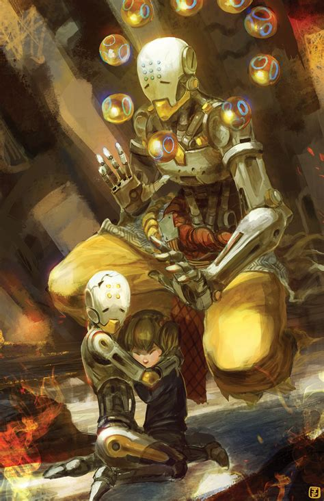 zenyatta overwatch fan art by anireal on deviantart