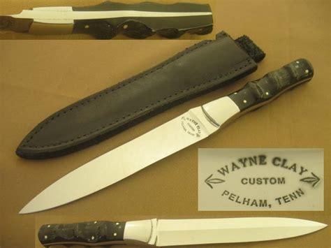 wayne clay knives wayne clay custom dagger stiletto boot knife