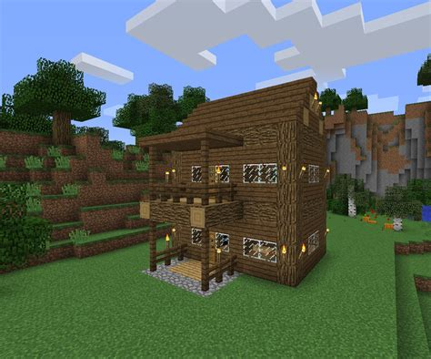 How To Build A Log Cabin Minecraft by Simple Survival Log Cabin