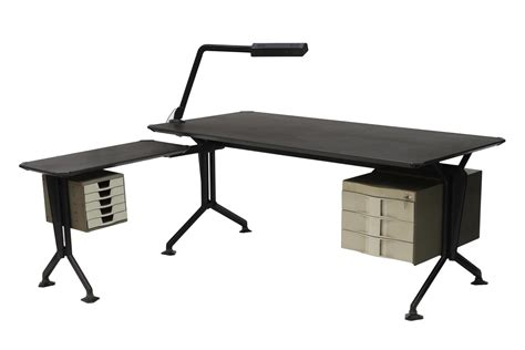 L Shaped Studio Desk Studio Bbpr Italian Olivetti Arco L Shaped Desk August Estates Day One Firearms Coins