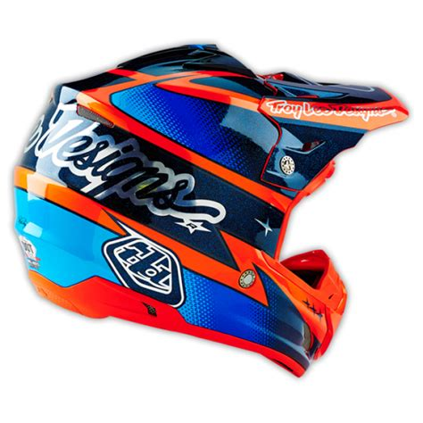 Troy Designs Motocross Helmet 2016 Se3 Team Orange