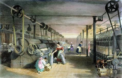 Define Home Decor textile mill cotton 1834 photograph by granger