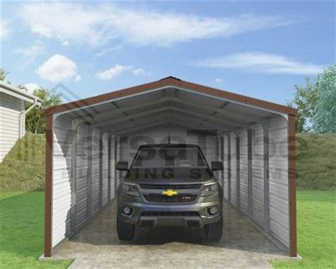 Building A Carport From Scratch grand carport 3 sided 12 x 30 x 7 garage building and shelters