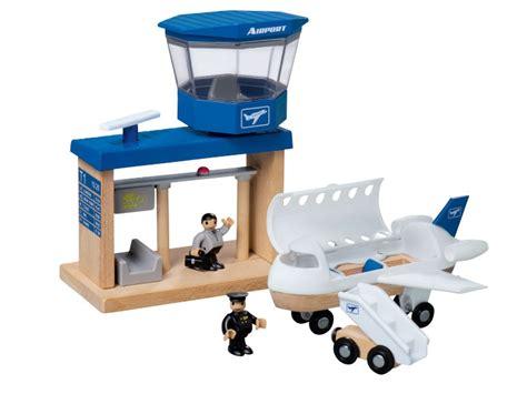 junior woodwork set playtive junior wooden port parking garage airport or
