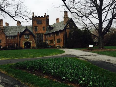 Stan Hywet And Gardens by Outside The Back Of The Mansion By Moonlight Picture Of