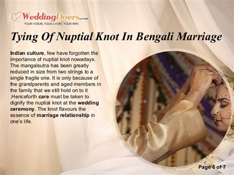 Nuptial Marriage by Tying Of Nuptial Knot In Bengali Marriage