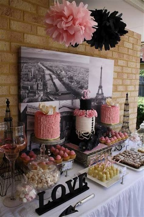 kitchen tea ideas themes 22 chic parisian themed bridal shower ideas crazyforus