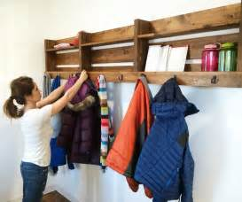 ana white ryobi nation 8 foot long pallet inspired coat rack diy projects