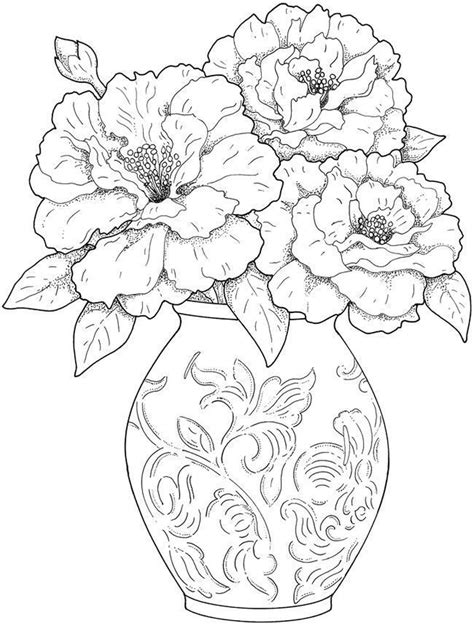 detailed coloring pages for adults flowers get this detailed flower coloring pages for adults