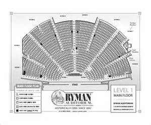 grand ole opry floor plan ryman auditorium seating chart