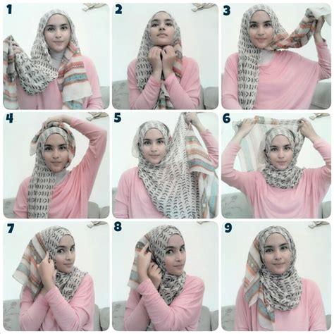 gambar tutorial hijab pengantin طريقة لف الخمار بالصور