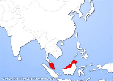 where is malaysia on a world map where is malaysia located on the world map