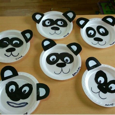panda crafts for paper plate panda craft ideas 2 171 funnycrafts