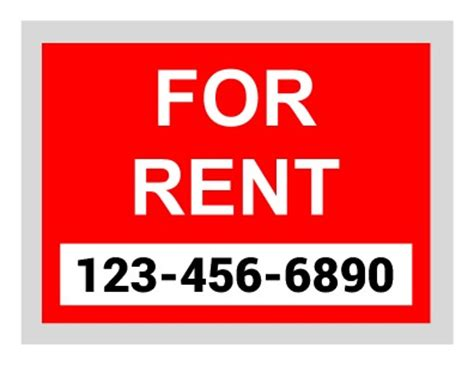 for rent sign templates pageprodigy print for 1