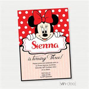 items similar to minnie mouse birthday invitation diy printable on etsy