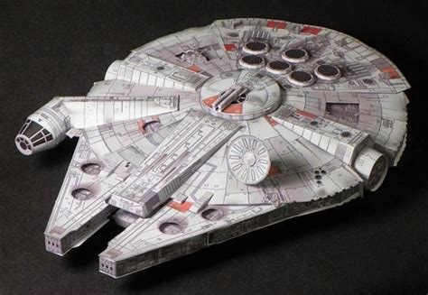 Sci Fi Papercraft - papermau wars millennium falcon paper model by