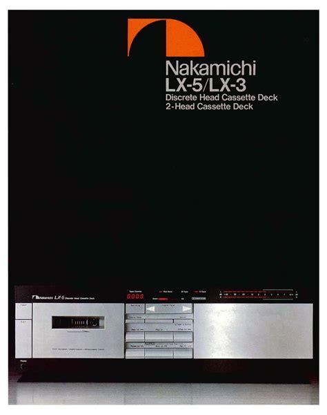 nakamichi lx 3 cassette deck nakamichi lx 3 hifi wiki de