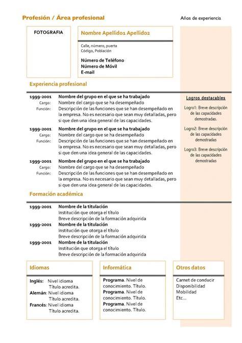 Modelo Curriculum Vitae Funcional Curr 237 Culum Vitae Modelo 4 Tienda De Curriculum Vitae