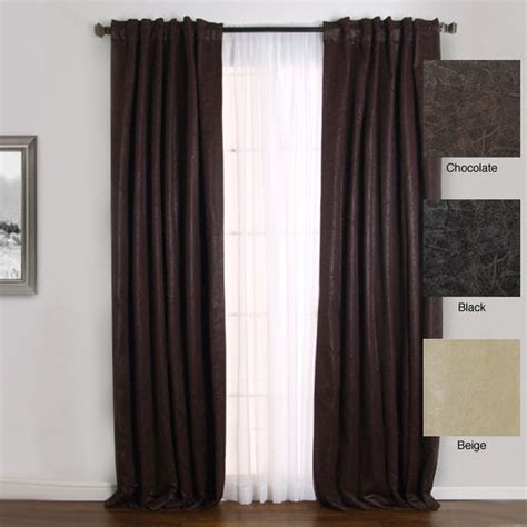 faux leather curtain panels faux leather insulated thermal 84 inch curtain pair