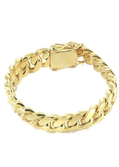 mens gold bracelets real gold bracelets frostnyc