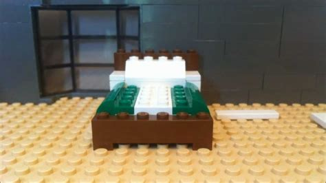 how to make a lego bed how to build a lego bed in stop motion lego moc youtube