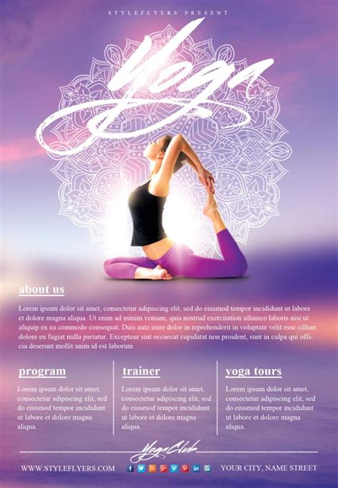 Yoga Gym Free Flyer Template Download Flyer Templates Free Pong Flyer Template