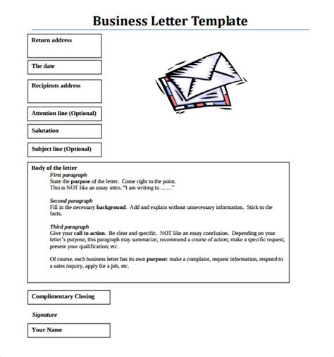 Business Letter Form Pdf sle business letter format 8 free documents