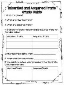 acquired and inherited traits packet quiz activity amp st