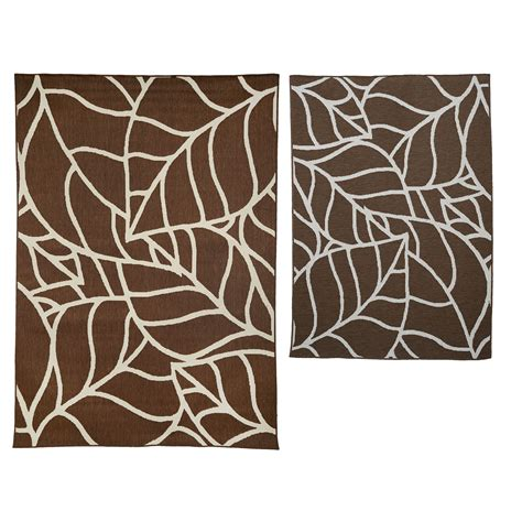 Qvc Outdoor Rugs Veranda Living Indoor Outdoor Abstract Design Reversible Rug Qvc