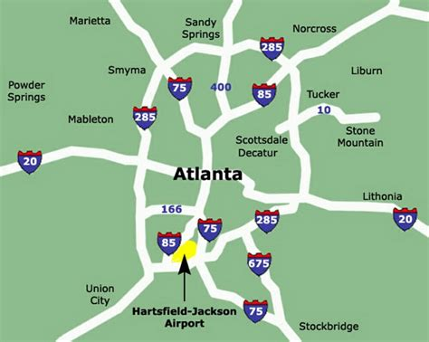 atl terminal map map of atlanta international airport afputra