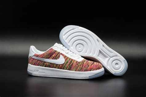 colorful air forces s nike flyknit air 1 low colorful shoes black