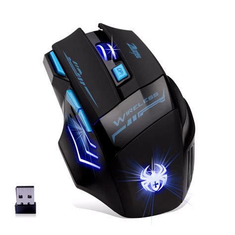 Mouse Gaming Wireless Rp wireless gaming mouse 2 4ghz mouse adjustable 2400dpi usb optical wireless gaming mouse