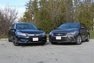 Toyota Camry Vs Honda Civic 2016 Honda Accord Vs 2016 Toyota Camry Autoguide News