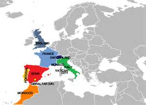 Spain Map Europe by Map Of Spain And Europe