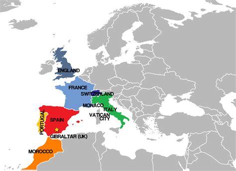 europe complete map granada gracie global