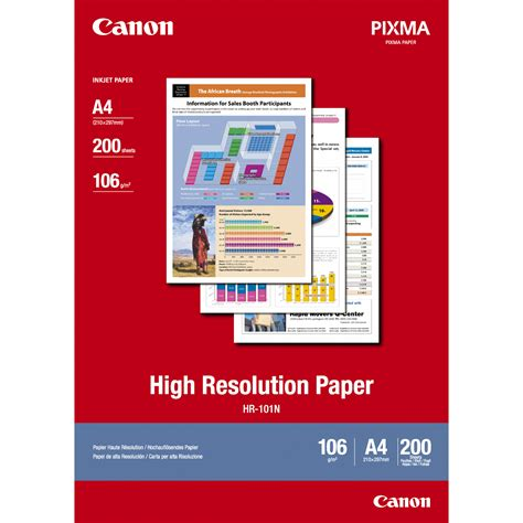 canon high resolution canon high resolution paper a4 200 sheets 36 in