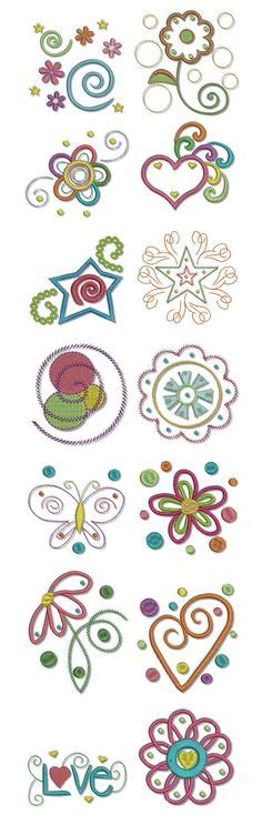Doodles Abc Machine Embroidery Designs Machine