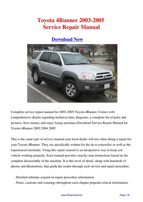 how to download repair manuals 2012 toyota 4runner electronic toll collection toyota 4runner 2003 2005 repair manual by fu juan issuu