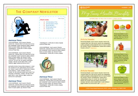 newsletter templates for microsoft word 2010 images
