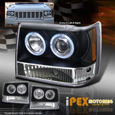 1996 Jeep Headlight 1993 1996 Jeep Grand Zj Halo Projector Led