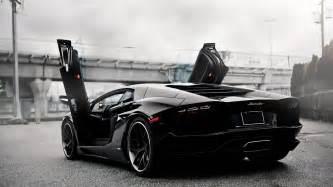 Lamborghini Door Open Black Lamborghini Aventador Open Door 1920x1080