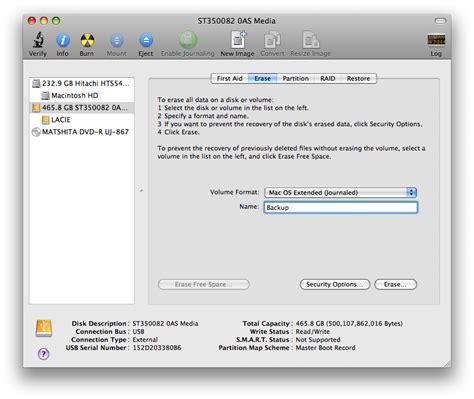 format hard disk utility format a hard drive using mac os x disk utility iclarified