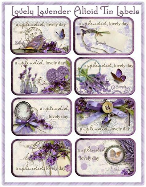 printable lavender labels lovely lavender altoid tin labels digital download cottage