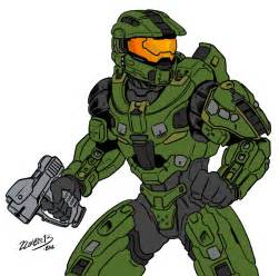 Halo 4 master chief by zzombiexiii on deviantart