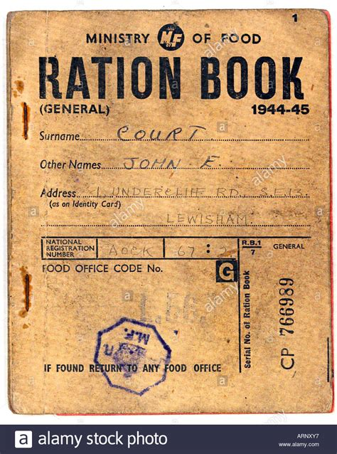 pictures of ration books food ration book 1944 an food ration book issued