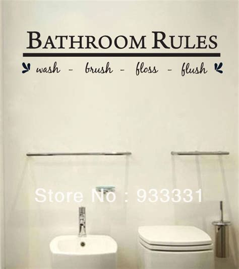 bathroom quotes online bathroom rules wall decal promotion online shopping for