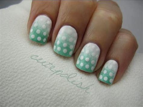 easy nail art cutepolish easy ombre polka dot nail art youtube