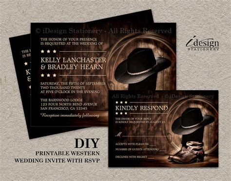 free western invitation templates wedding invitation template 71 free printable word pdf